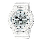 G-SHOCK 街頭潮流岩石紋理設計運動休閒錶(GA-100CG-7A)白51mm