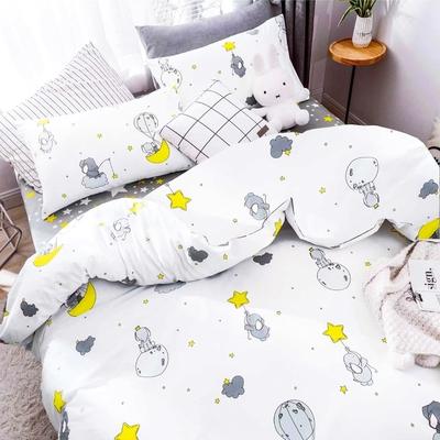 3-HO-100%純棉-單人床包/枕套組-小美好