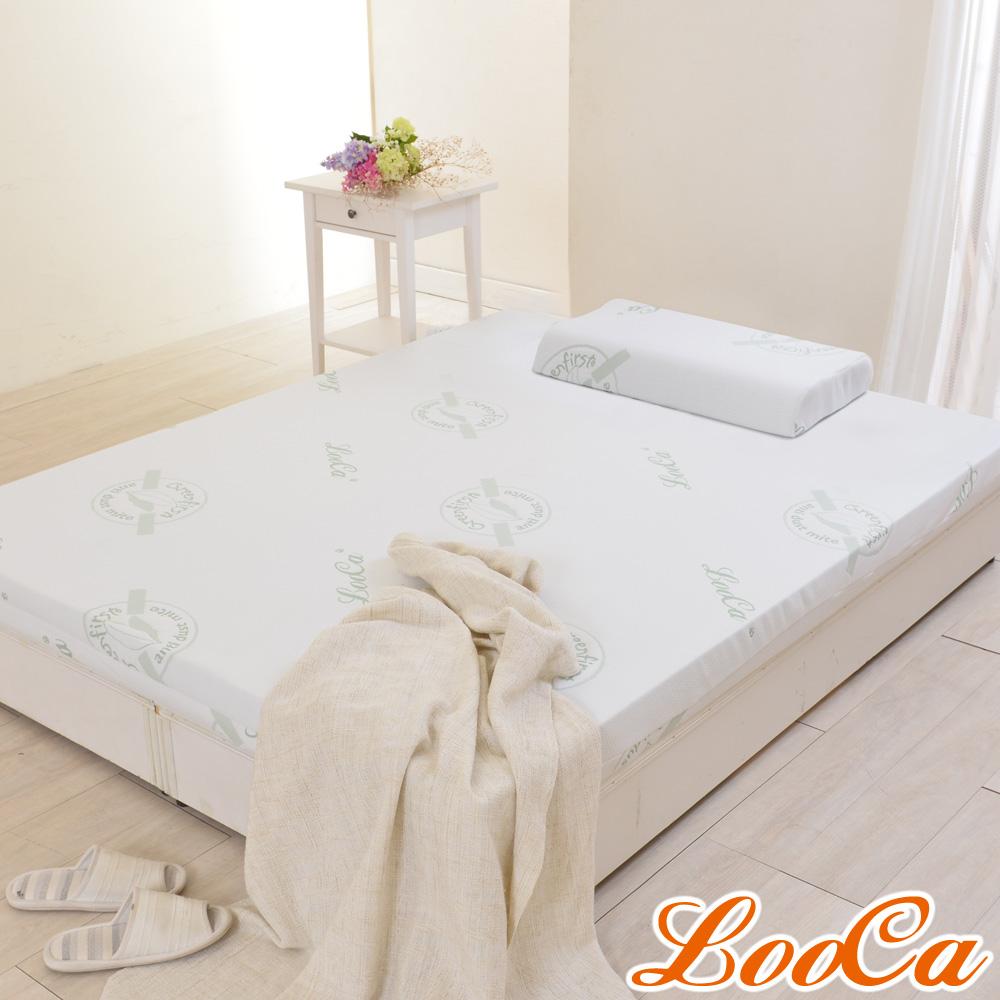 (福氣超值組)LooCa 旗艦款防蹣11cm釋壓記憶床墊-單大3.5尺 @ Y!購物