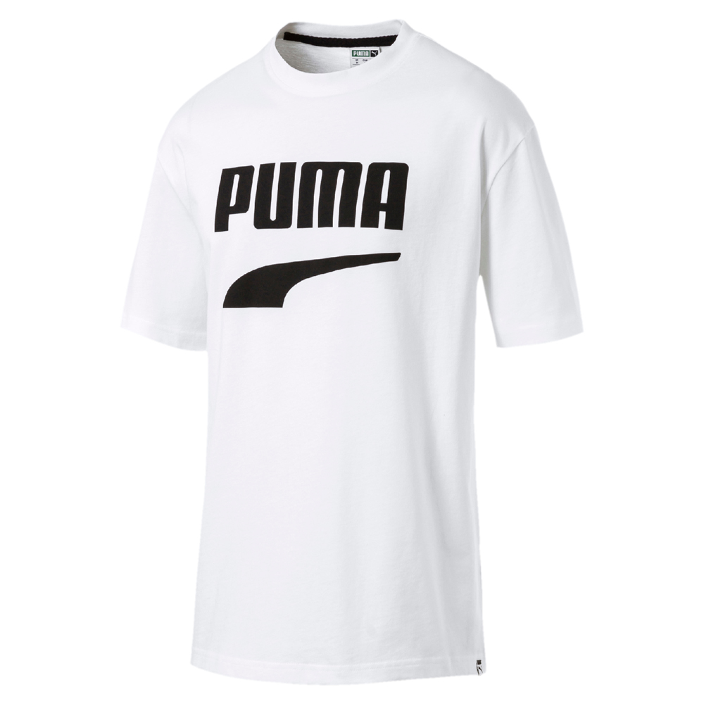 PUMA-男性流行系列Downtown圖樣短袖T恤-白色-亞規