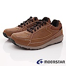 日本Moonstar戶外健走鞋-4E寬楦防水柔軟款-1861淺咖啡(男段)