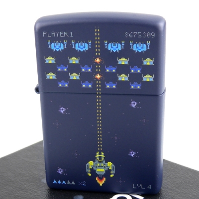 ZIPPO 美系~Pixel Game-復古電玩遊戲圖案打火機