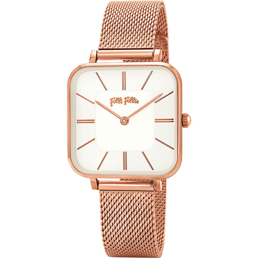 Folli Follie TIMELESS BONDS 米蘭時尚手錶-銀x玫塊金/32mm