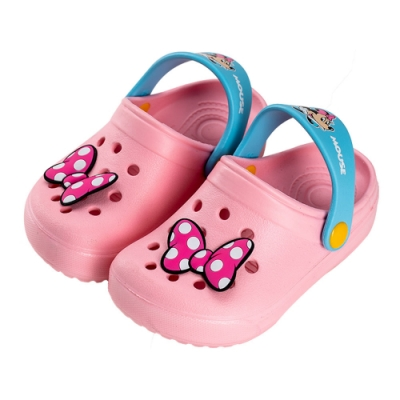 迪士尼童鞋 米妮 洞洞防水布希童鞋-粉