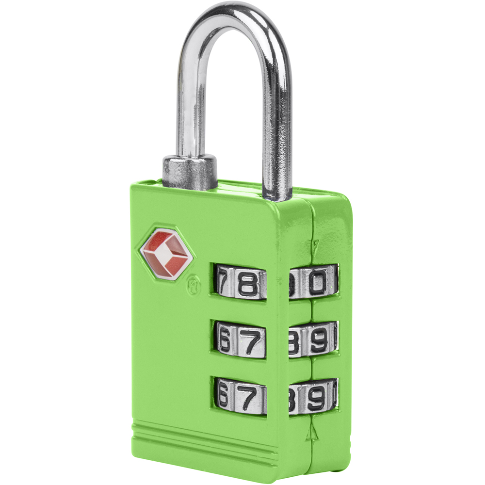 《TRAVELON》TSA三碼防盜密碼鎖(綠)