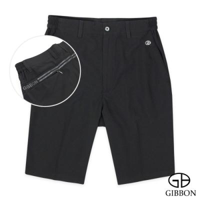 GIBBON 速乾Super Stretch設計燙印運動短褲‧黑色