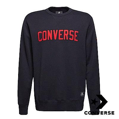 CONVERSE-男休閒長袖上衣-黑-10007828-A01