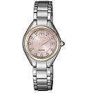 CITIZEN星辰 LADY'S施華洛世奇光動能時尚腕錶-銀(EW2546-87X)