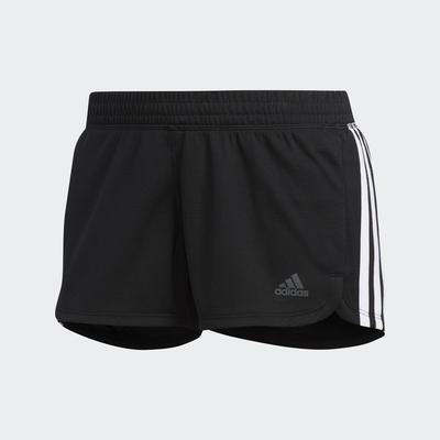 ADIDAS PACER 3S KNIT 女運動短褲-黑-DU3502