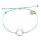 Pura Vida 美國手工 金色圓圈 水藍綠臘線衝浪手鍊手環