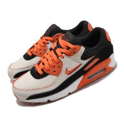 Nike 休閒鞋 Air Max 90 PRM 運動 男鞋 經典款 刮刮樂 小logo 質感 穿搭 橘 白 CJ0611100