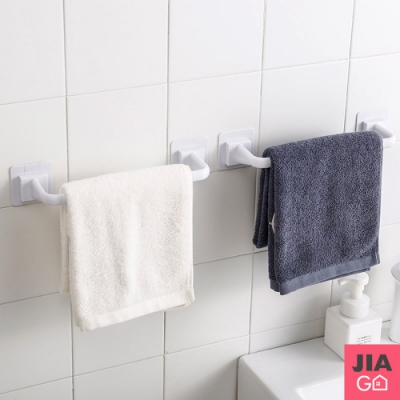 JIAGO 免釘無痕浴室毛巾架(短款+長款)