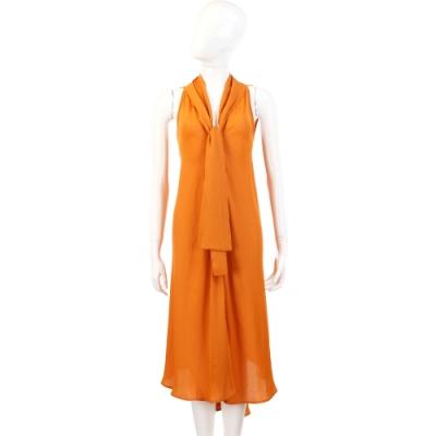 SEE BY CHLOE 黃色領結不規則設計洋裝