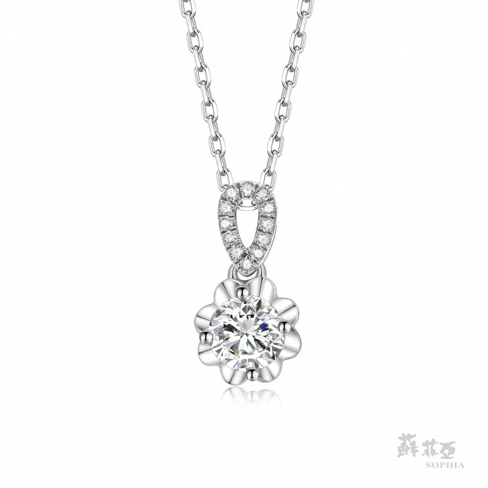 SOPHIA 蘇菲亞珠寶 - 幸福捧花 0.30克拉 18K白金 鑽石項鍊