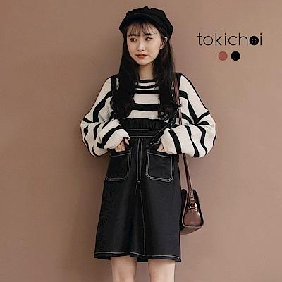 東京著衣 可愛教主車線設計花苞吊帶裙-S.M(共二色)