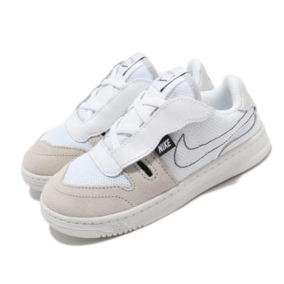 Nike 休閒鞋 Squash-Type 運動 童鞋 基本款 舒適 簡約 魔鬼氈 小童 穿搭 白 米白 CJ4121100