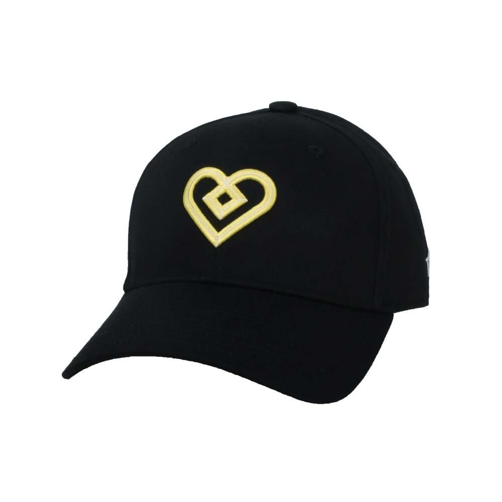 KAPPA DD52聯名球帽-遮陽 防曬 鴨舌帽 帽子 菱格世代 純棉 35151EW-D17 黑黃