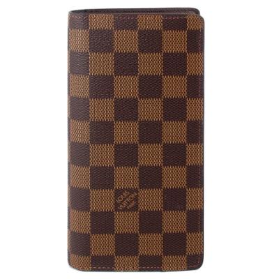 LV N60017 Damier LV棋盤格紋開闔拉鍊長夾