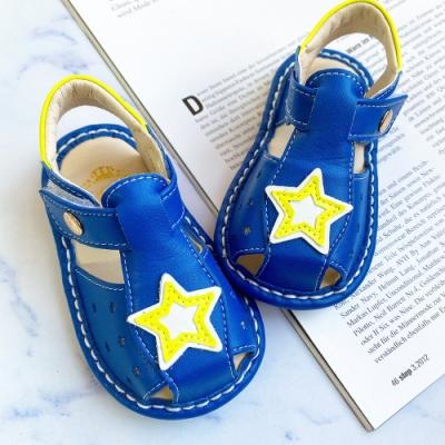 Swan天鵝童鞋-城市星空寶寶涼鞋1600-藍