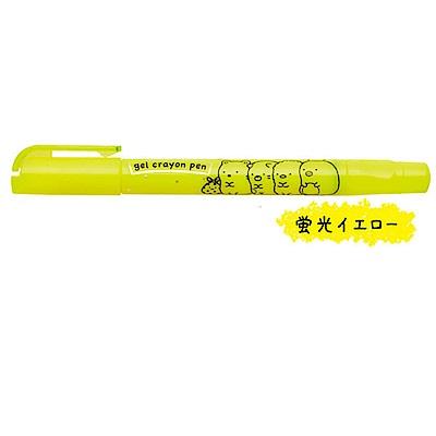 角落公仔 gel crayon pen 螢光蠟筆。粉黃San-X