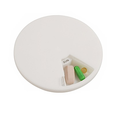 iSFun 7 Way 星期 透視圓型藥盒 2入