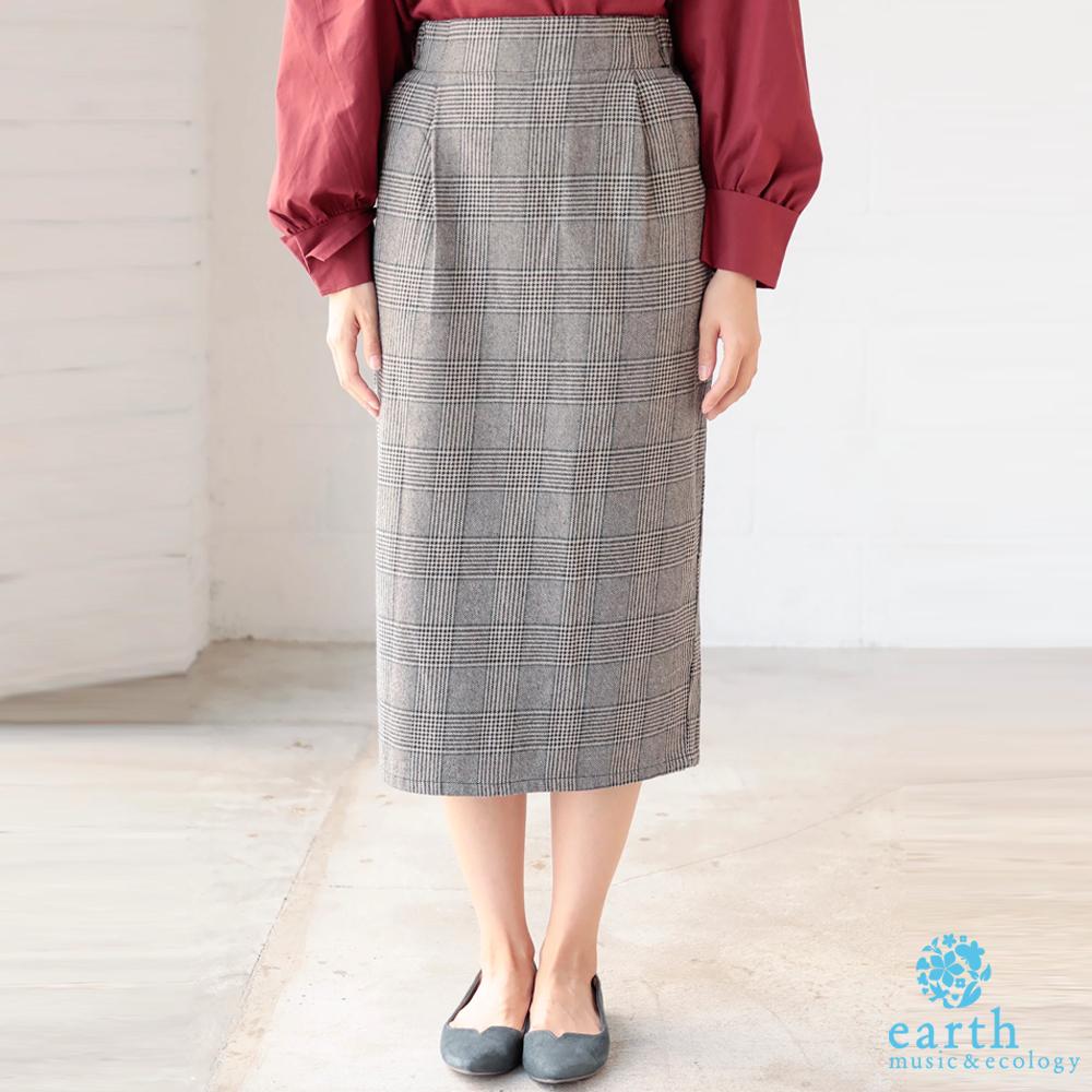 earth music 定番棉質口袋窄身裙