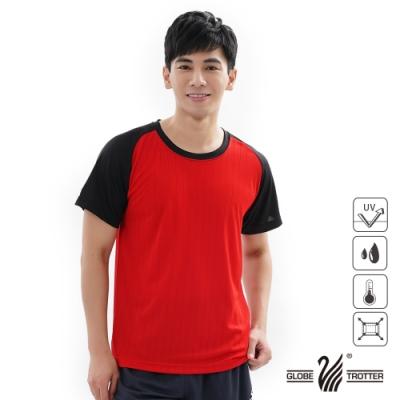 【遊遍天下】MIT中性款吸濕排汗抗UV機能圓領衫GS2001紅黑