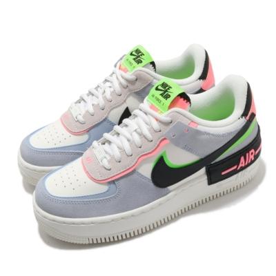Nike 休閒鞋 AF1 Shadow 運動 女鞋 厚底 舒適 簡約 球鞋 質感 穿搭 白 藍 CU8591101