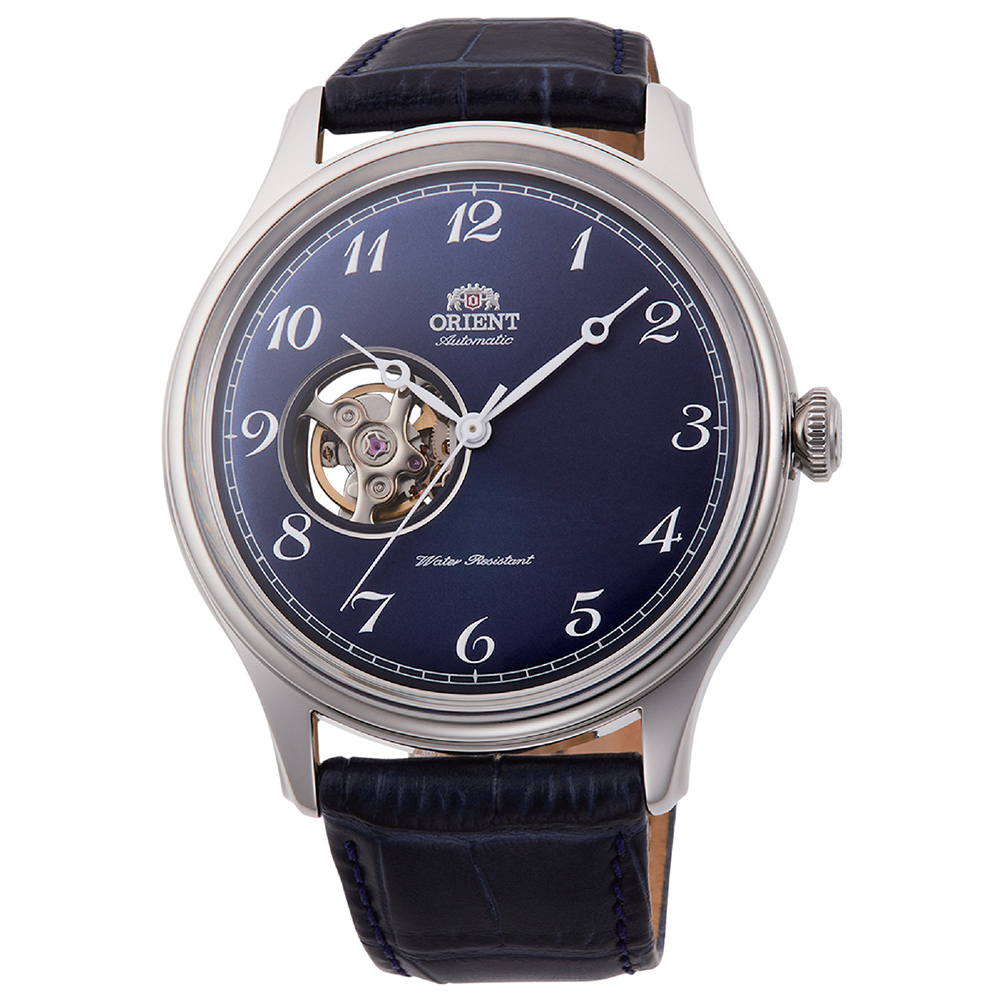 ORIENT  城市光景自動半鏤空腕錶(RA-AG0015L10B)-藍面x43mm