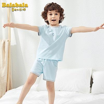 Balabala巴拉巴拉-粉嫩笑臉圖案家居服套裝(男女皆可)