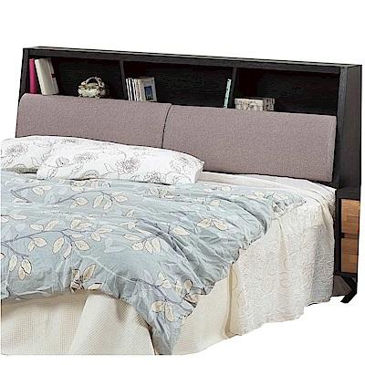 文創集 亞迪時尚6尺亞麻布雙人加大床頭箱-183x29x105cm免組
