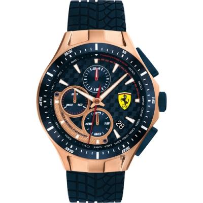 Scuderia Ferrari 法拉利 賽車急速計時手錶(FA0830699)-44mm
