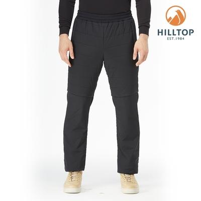【hilltop山頂鳥】男款POLYGIENE抗菌彈性保暖科技棉長褲H31MM4黑美人