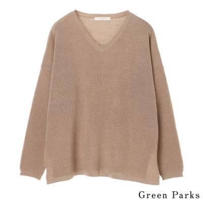 Green Parks 華夫格紋V領針織上衣
