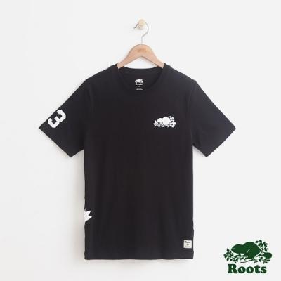 男裝Roots 貝德福短袖T恤-黑