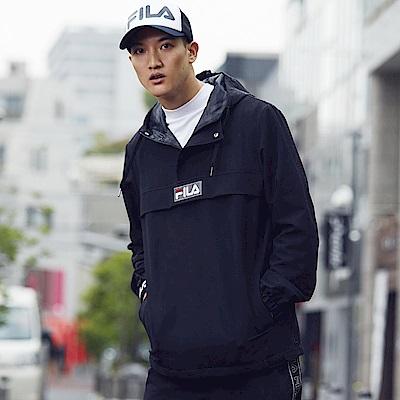 FILA #東京企劃-原宿篇 半開襟風衣罩衫-黑 1JKS-5445-BK