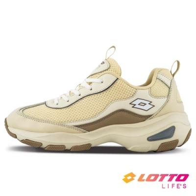 LOTTO 義大利 女 WAVE美型健走鞋(奶茶色)