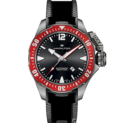 Hamilton  Khaki 1000米鈦金屬蛙人機械錶(H77805335)