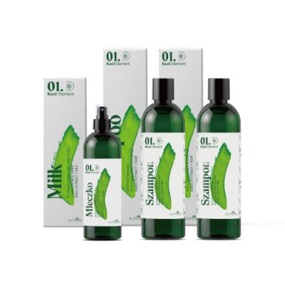 Green Pharmacy 草本肌曜 VP羅勒專業養洗護髮組(洗髮x2+髮絲精華)