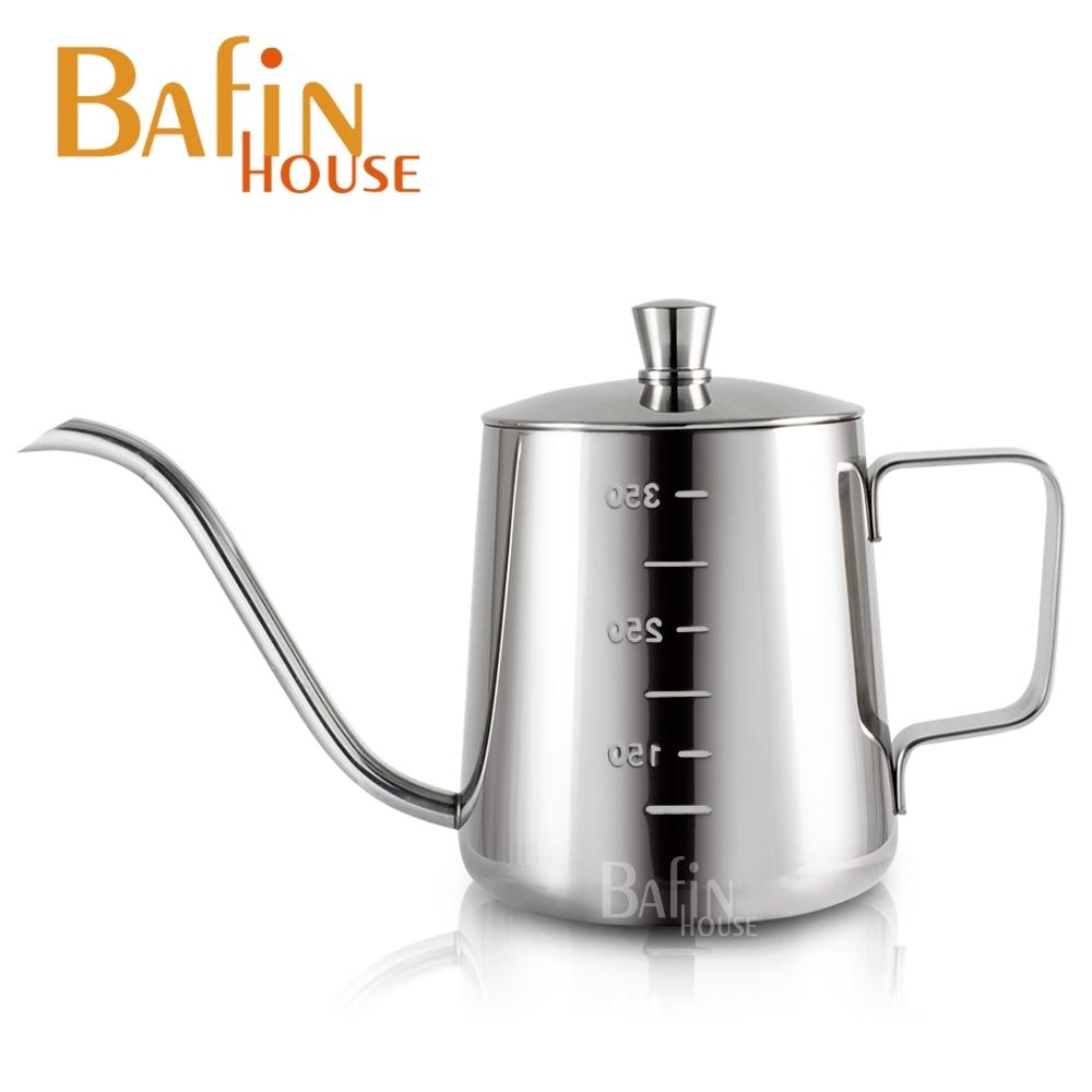 Bafin House 不鏽鋼 附水位線細口壺 350ml