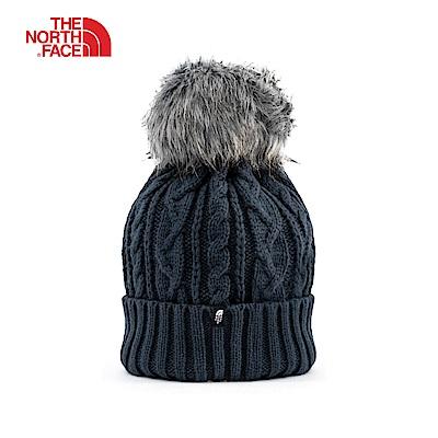 The North Face北面海軍藍保暖毛球針織帽|3FJMH2G