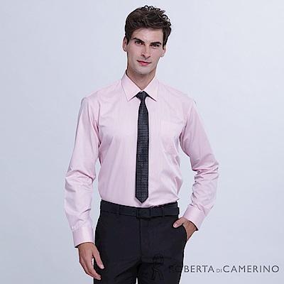 ROBERTA諾貝達 台灣製 商務型男 素面長袖襯衫RDC05-73粉紅