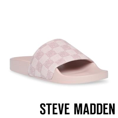 STEVE MADDEN-SEALED 格紋平底拖鞋-粉色