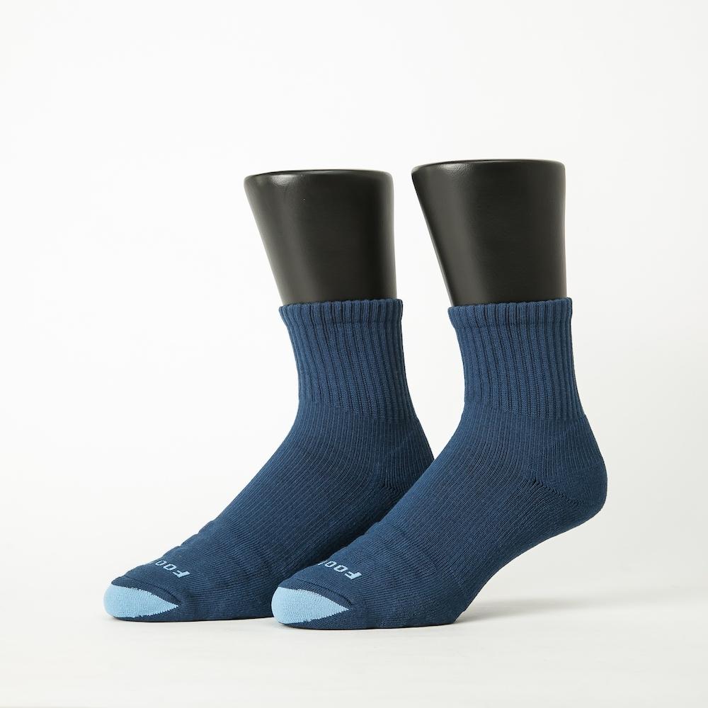 Footer除臭襪-螺旋氣墊輕壓力襪-六雙入(黑色*2+藍色*2+灰色*2)