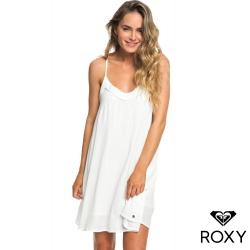 【ROXY】OFF WE GO DRESS 絲質美背洋裝 白