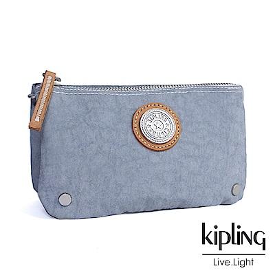 Kipling 零錢包  Edgeland 系列 亮牙灰素面-小