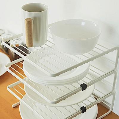 Home Feeling 三層碗盤架/瀝水架/收納架/廚房收納(2入組)