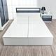 Birdie南亞塑鋼-5尺雙人塑鋼加高型側掀收納床底(不含床頭片)(白色) product thumbnail 1