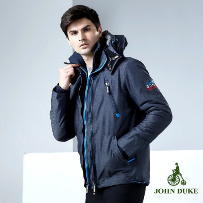 JOHN DUKE 約翰公爵休閒率性鋪棉外套_灰/寶藍(15-8K5952)