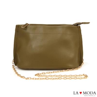 La Moda 輕巧百搭多背法肩背斜背鍊條小包(綠)